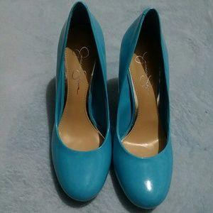 Jessica Simpson Size 7 Blue Heels